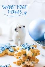 Mürbteig Plätzchen zum Angeben - Sweet Polar Flakes
