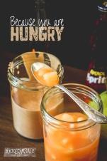 Nougat Creme Birnen Marmelade mit Apperol