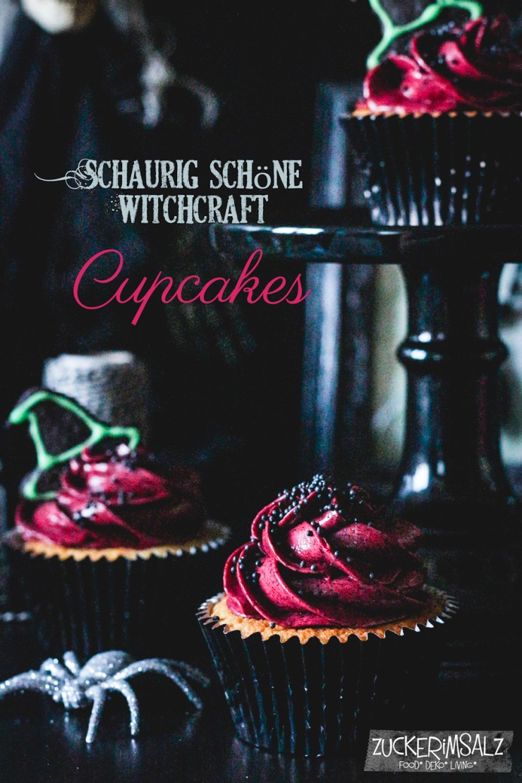 Halloween Cupcakes mit Blueberry Topping, Muffins, Buttercreme, Topping