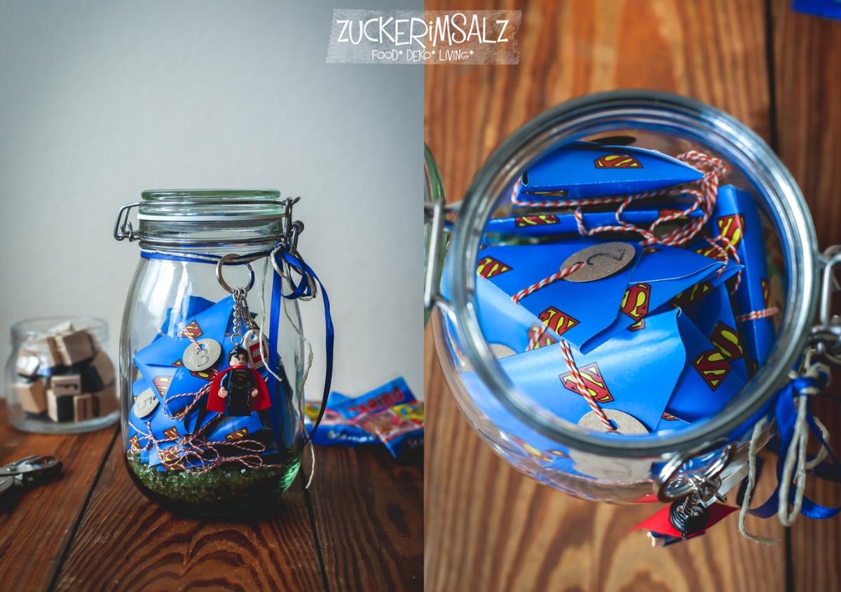 Das Superman 12 Monate Geburtstag S Uberraschungs Glas Zuckerimsalz