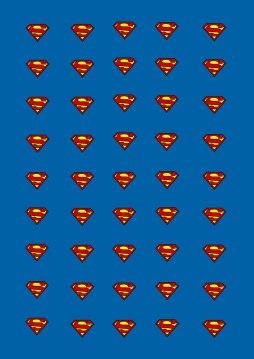 Superman-Druckvorlage