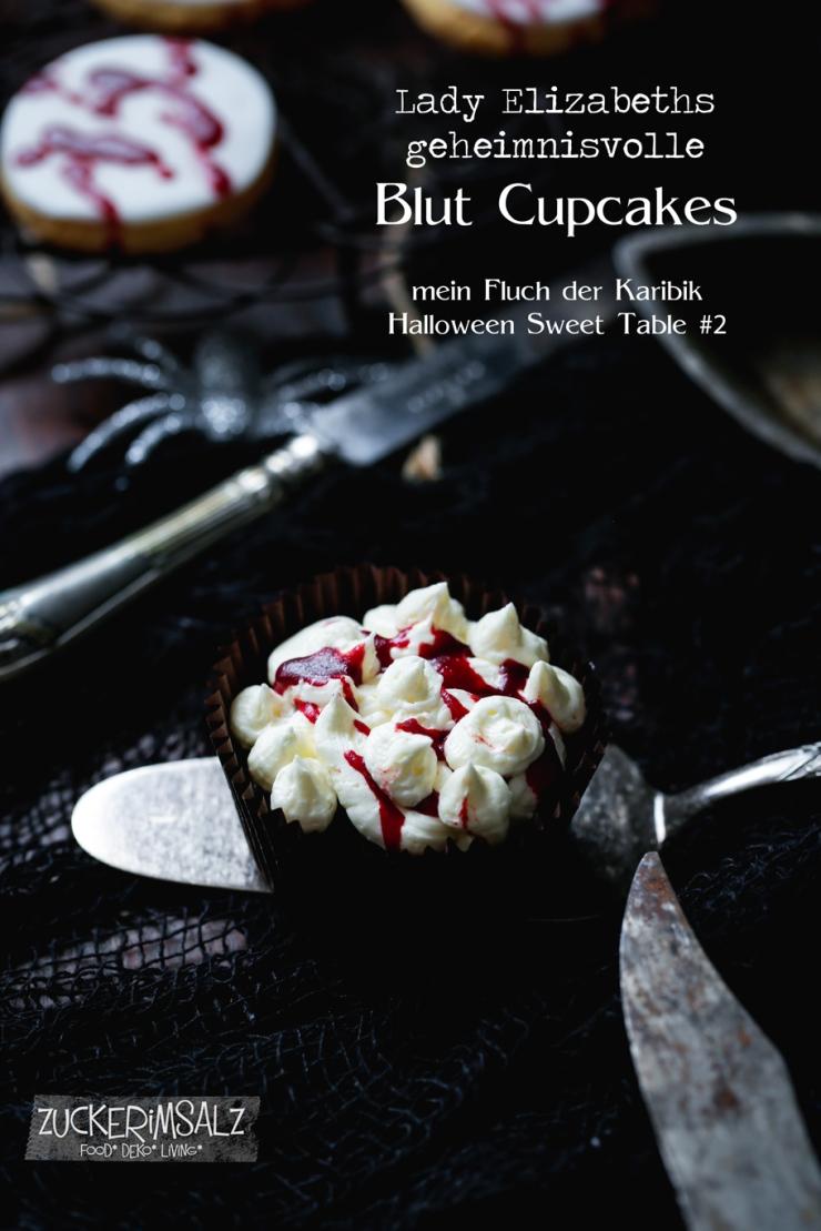 Lady Elizabeth, Fluch der Karibik, Blut, Cupcake, Muffins , Halloween