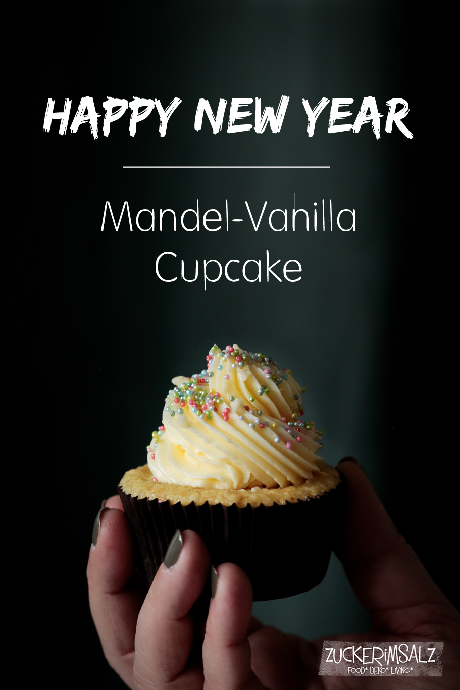 Mandel Vanilla Cupcake … 2018 … du kannst jetzt kommen