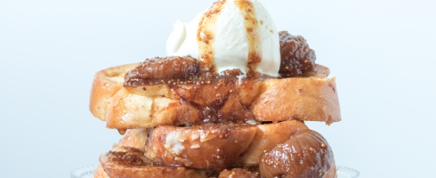 French Toast, Comfort Food mit Feigen