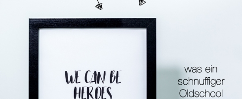 Poster, David Bowie, We can be Heroes just fon one day, Freebie