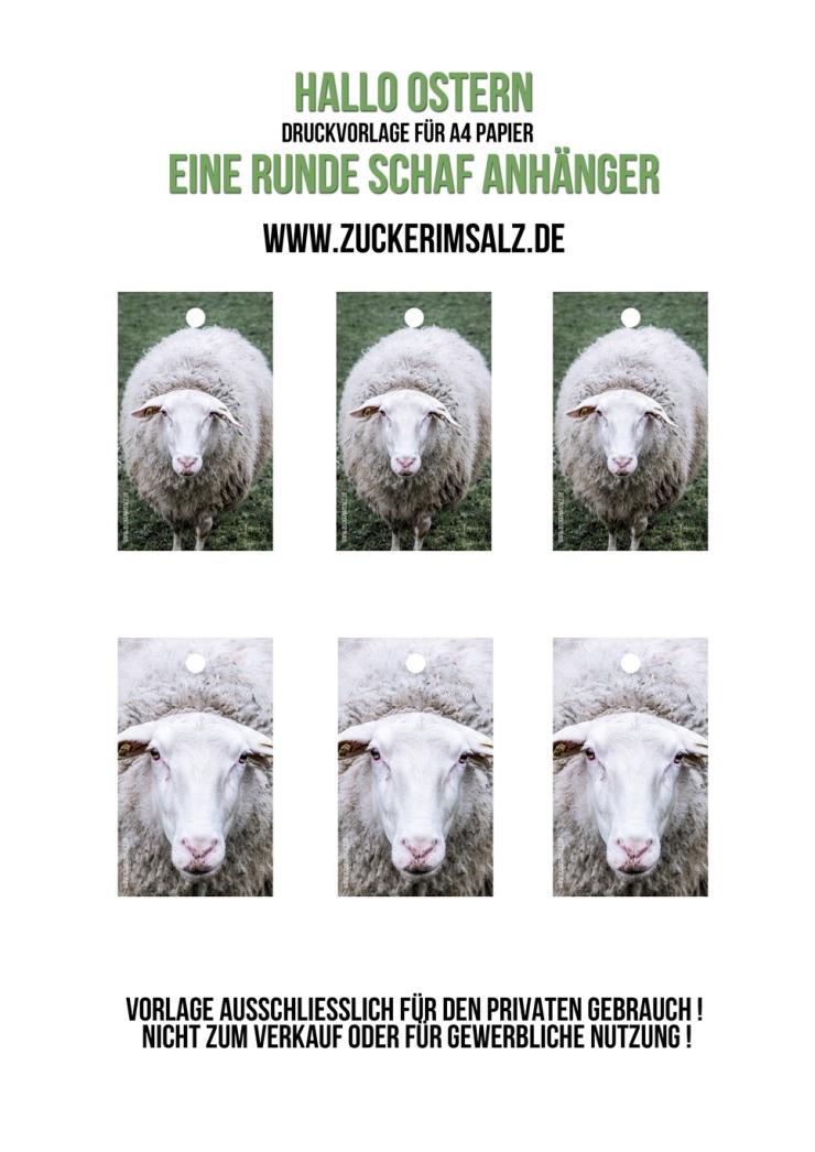 Schaf Anhänger, Etiketten, Freebie, Ostern