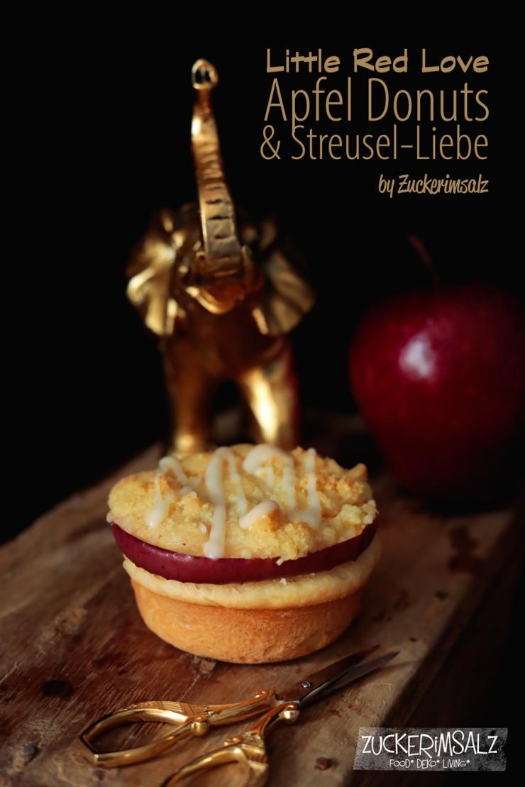 Apfel Donuts mit Streusel