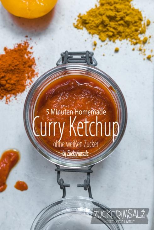 Homemade, Curry Ketchup, 5 Minuten, ohne weißen Zucker