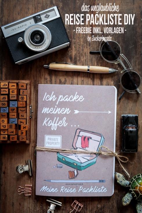 Reise Packliste, Vorlagen, Freebie, Download, Notizbuch, Urlaub