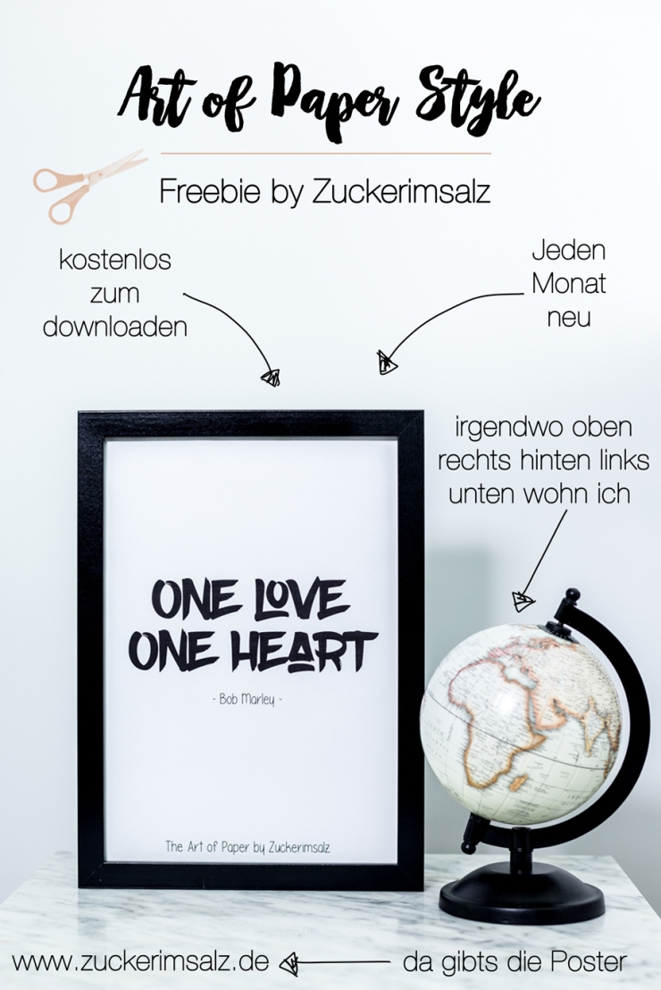 Poster, Bob Marley, One Love One Heart, Freebie