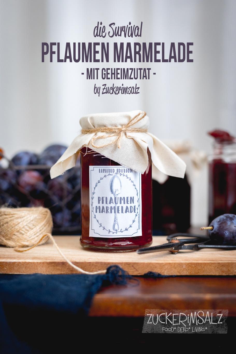 Pflaumen Marmelade, mit Whiskey, Rezept, Etiketten, Download