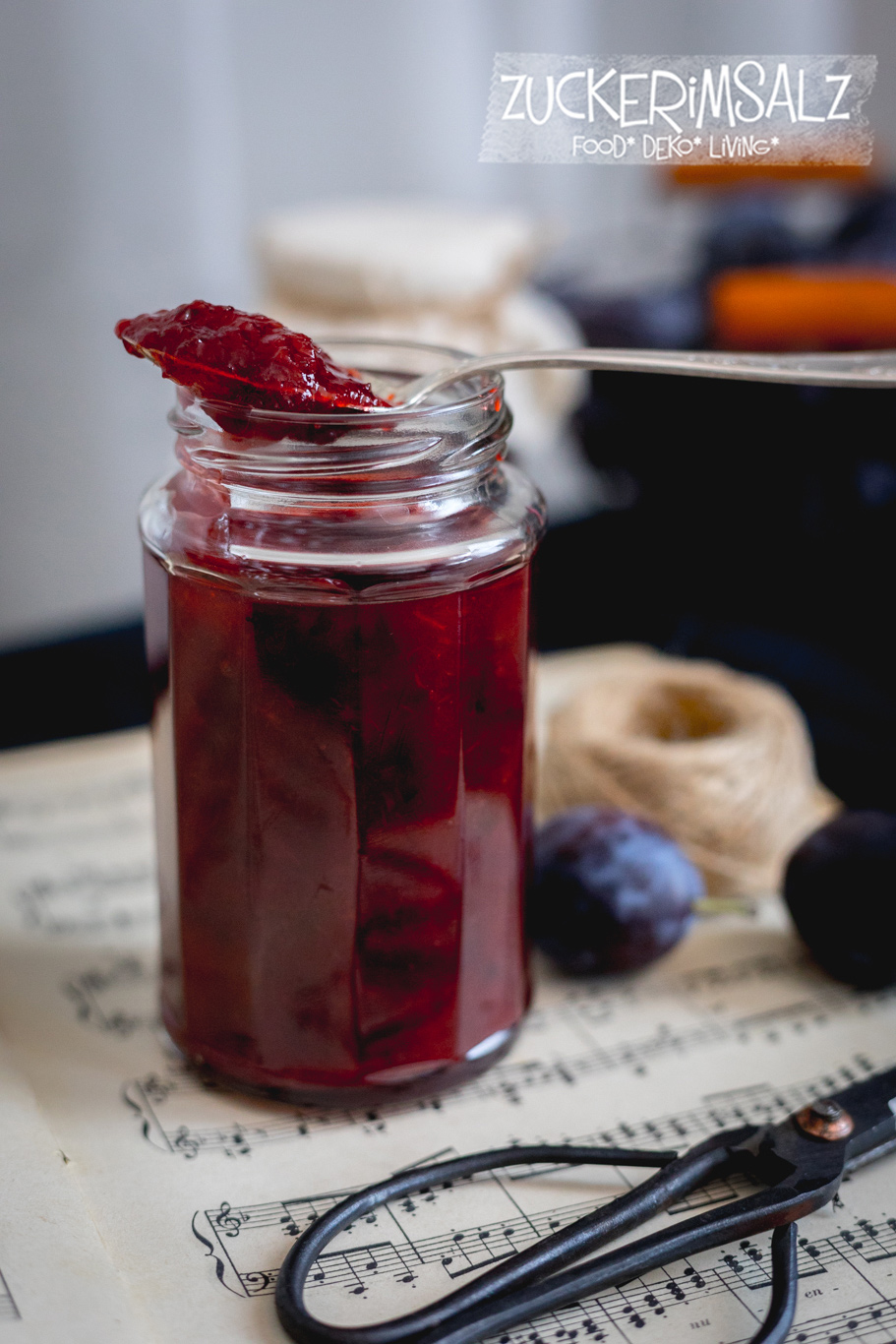Pflaumen Marmelade, mit Whiskey, Rezept, Etiketten, Download