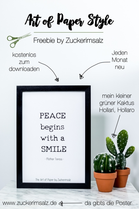 Poster, Mother Teresa, Peace begins with a smile
