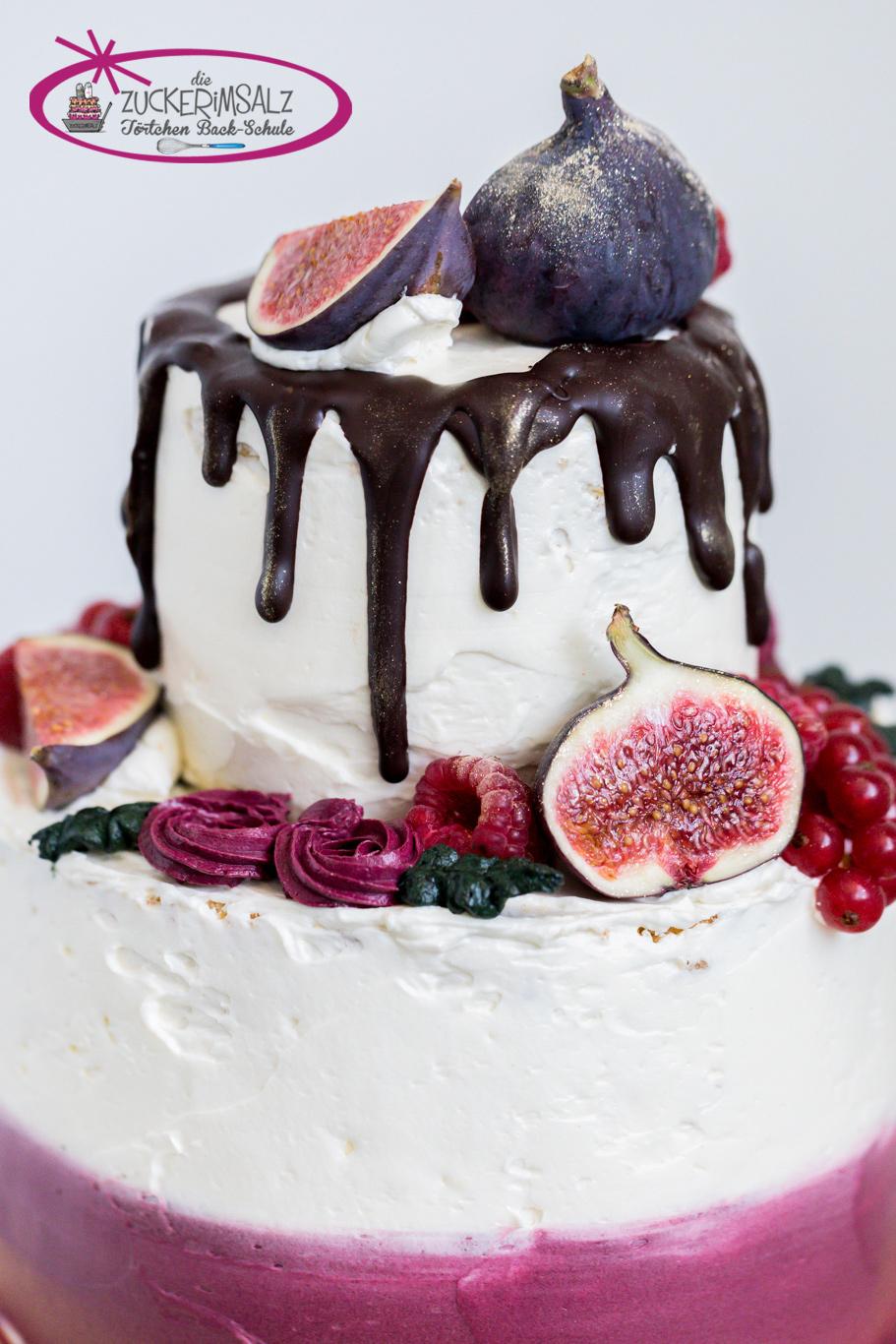 Torte, Törtchen, Backschule, zweistöckig, Mini Torte, Dekorieren