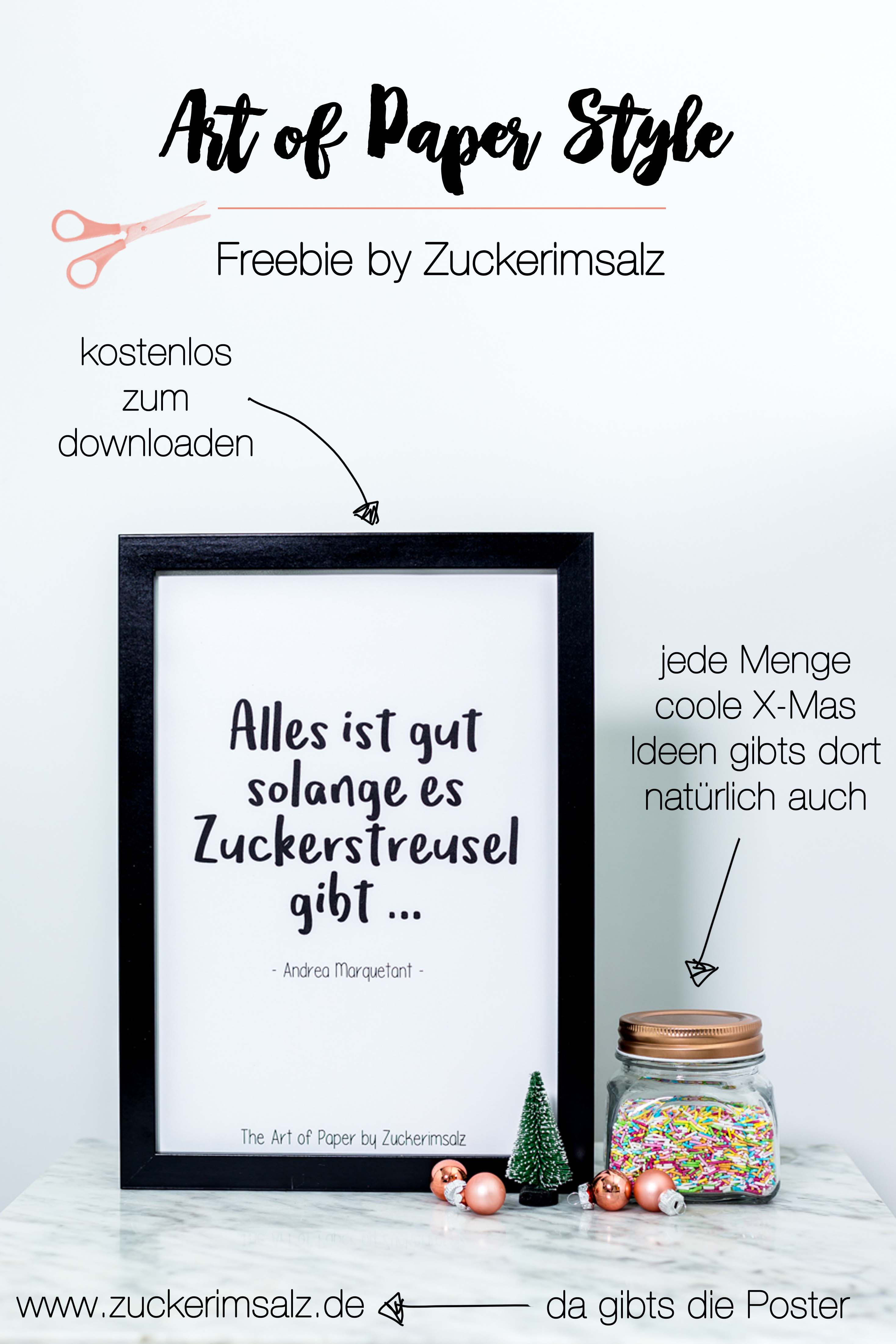 Lettering Print … a last Minute Christmas DIY | Freebie