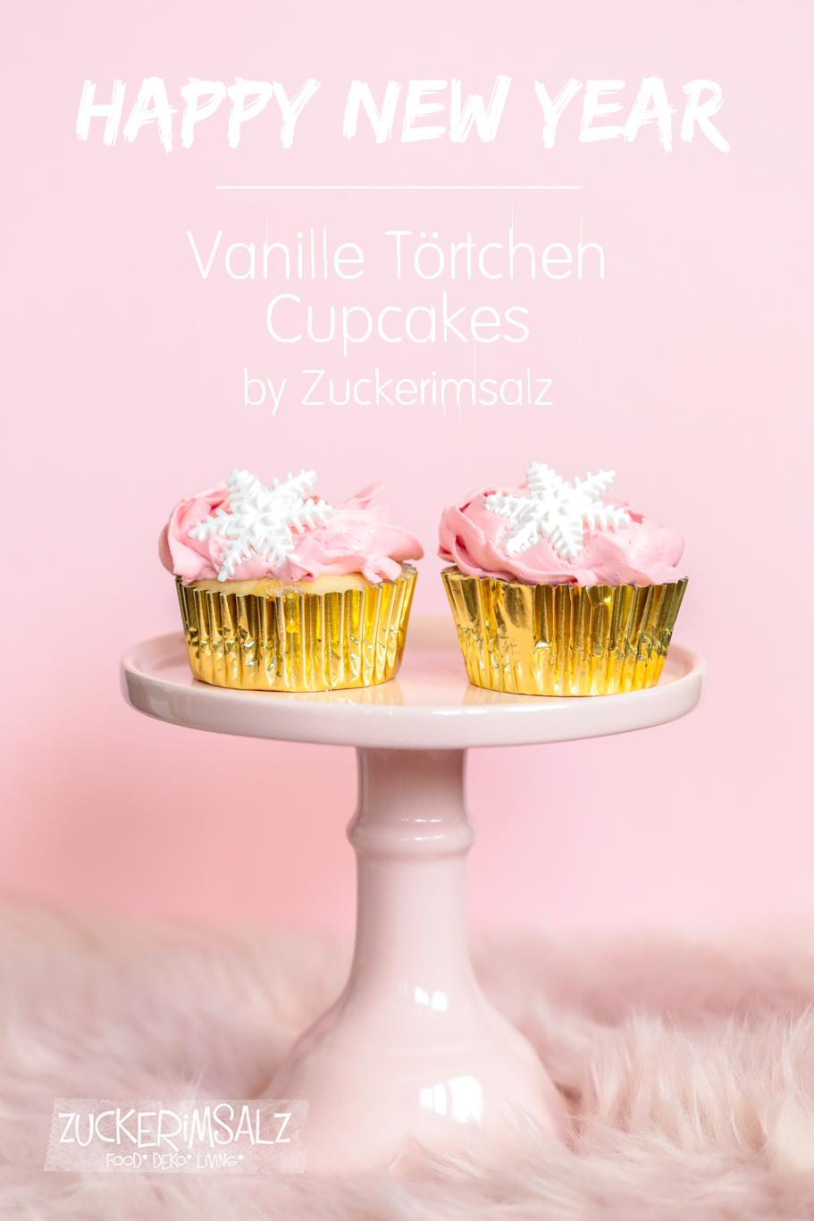 Vanille Törtchen Cupcakes mit Wölkchen Buttercreme und fruchtiger Füllung