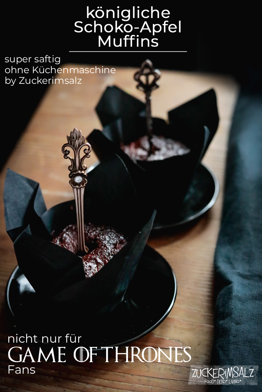 königliche Schoko & Apfel Muffins …  nicht nur für Game of Thrones Fans