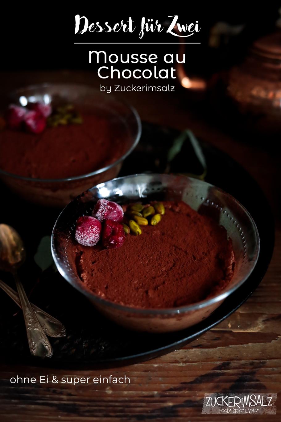 Dessert für Zwei | Mousse au Chocolat … einfach, schnell und ohne Ei