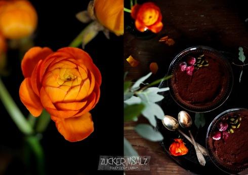 Mousse au Chocolat, Dessert für 2, Zwei, Rezept, ohne Ei, für Anfänger, einfach, schnell, mit Sahne,