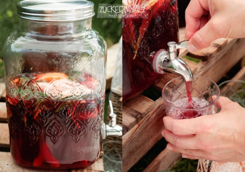 Sangria, Sommer, frisch, fruchtig, ohne Alkohol, Ginger Ale