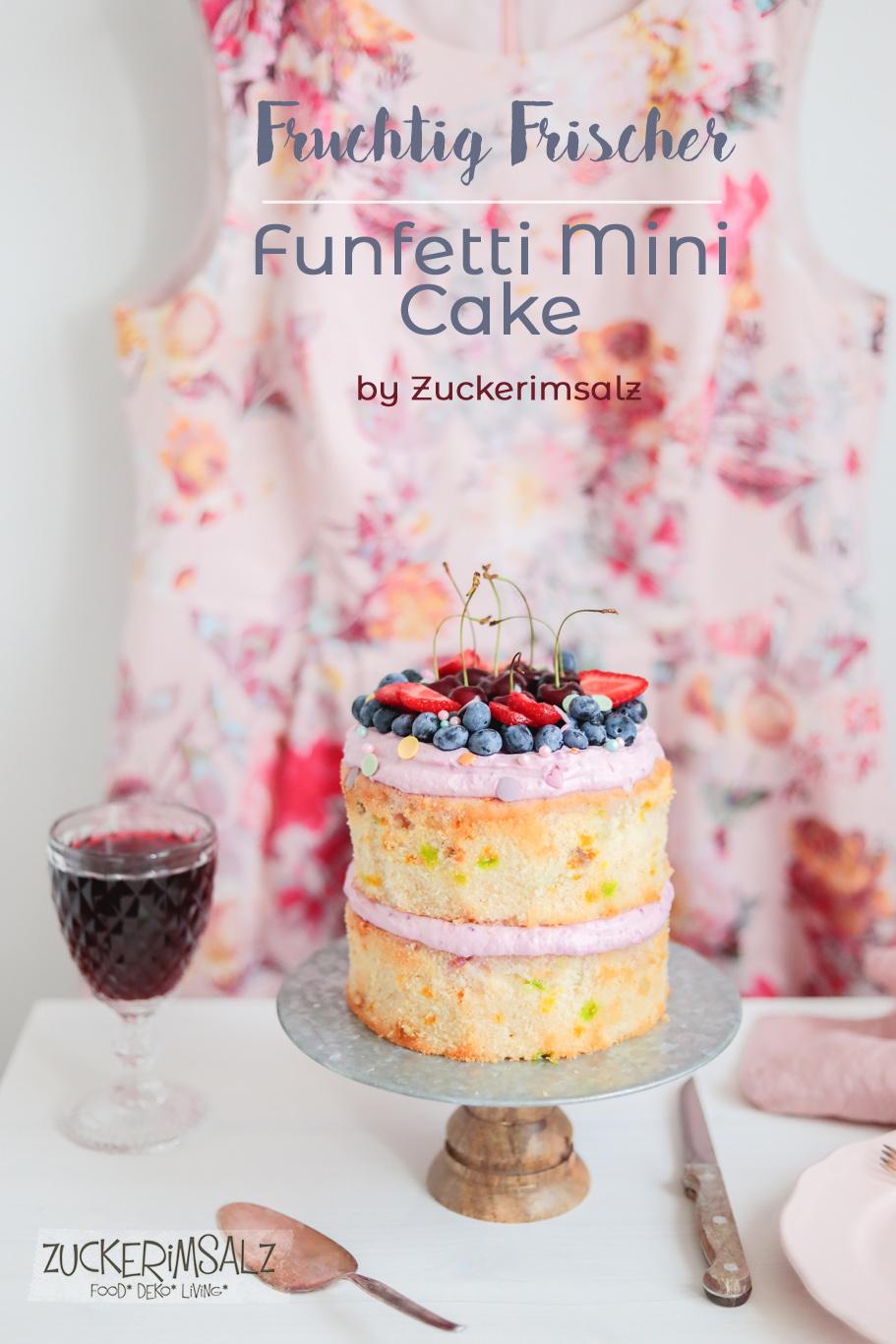 Funfetti Mini Cake – fruchtig frisch und schwer verliebt