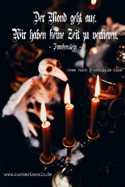quotes, Zitat, Freebie, free fonts, kostenlos, Schriftarten, Handlettering, Lettering, Logo, Schrift, Halloween, Frankenstein, A Gothique Time