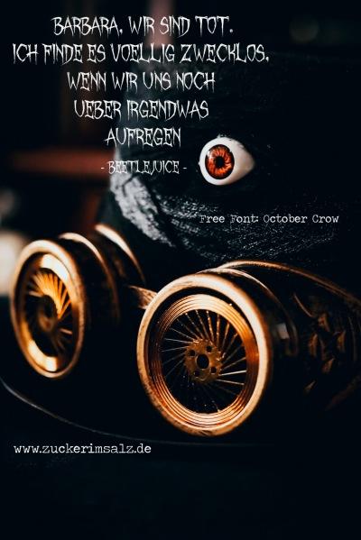 quotes, Zitat, Freebie, free fonts, kostenlos, Schriftarten, Handlettering, Lettering, Logo, Schrift, Halloween, October Crow, Beetlejuice