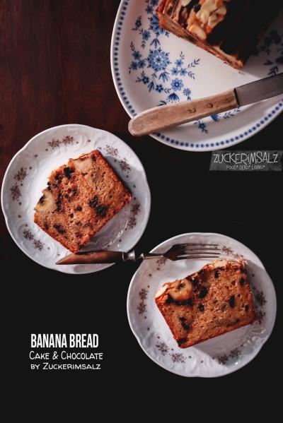 Bananenbrot, Bananen, Bananabread, Brot, Kuchen, Cake, überraschend, Trick, braune Bananen, definitiv, saftigste, Rezept