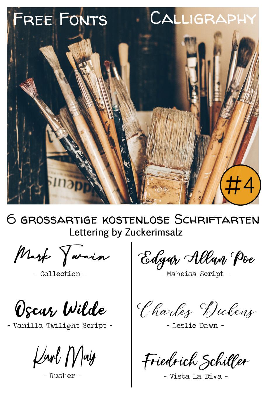 Freebie | 6 grossartige kostenlose Schriftarten … Lettering by Zuckerimsalz #4
