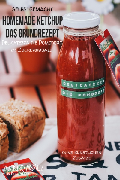 Ketchup, Homemade, Grundrezept, selber machen, selbst gemacht, Anleitung, ohne Zusatzstoffe, ohne Konservierungsstoffe, Tomatensauße, zum Grillen