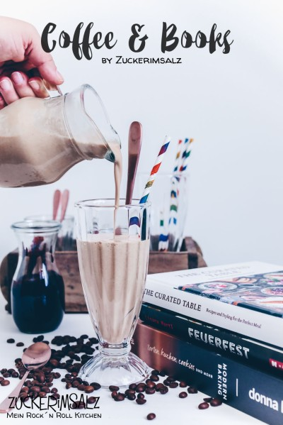 coffee, books, Eiskaffee, Kokos, selbstgemacht, Schokosirup, Vanilleeis, Bücher, Rezension, reingeschaut, Kaffee, schnell, lecker, unkompliziert, Donna Hay, Lisana Hartl, curated table
