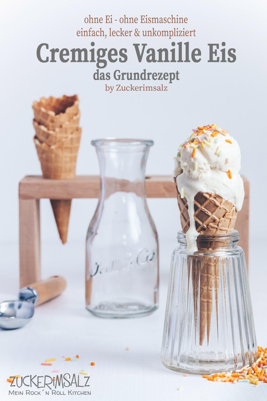 Cremiges Vanilleeis … das Grundrezept ohne Ei, ohne Eismaschine … meine neue Serie … Einfach | lecker | unkompliziert