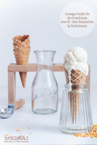 Waffeleis, Eiswaffel, Waffeltüte, cremiges, Vanille, Eis, ohne Ei, ohne Eismaschine, einfach, lecker, unkompliziert, Grundrezept, Rezept