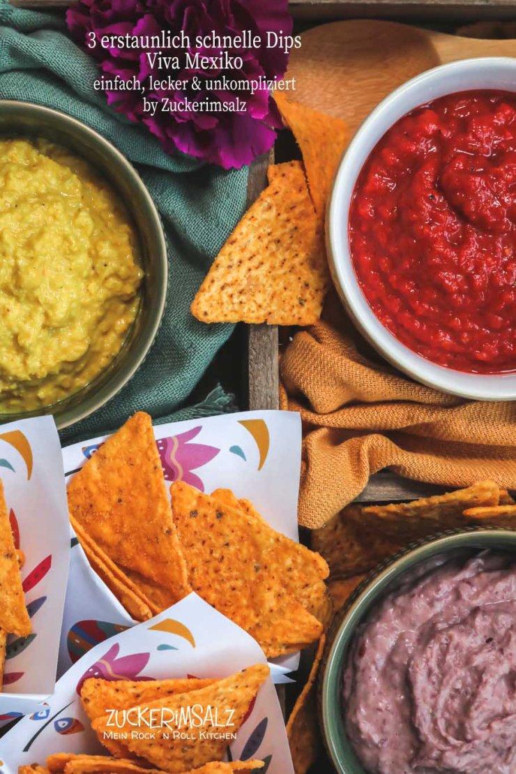 schnell, Dips, dippen, Nachos, Tortilla, Chips, viva Mexiko, mexico, Party, Fest, snack, Bohnen, Mai, Tomate, Paprika