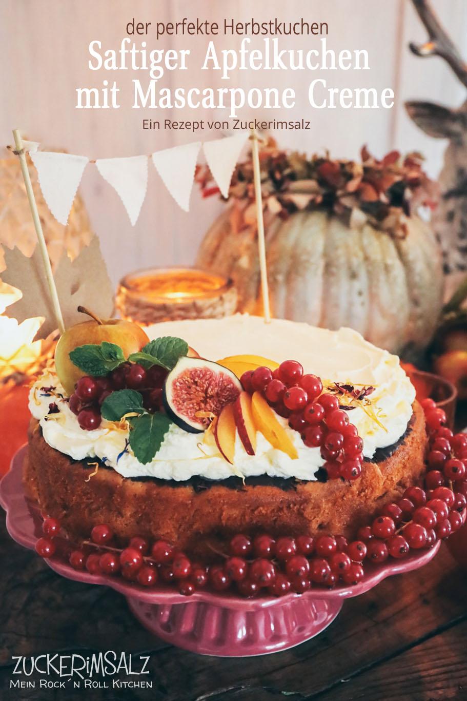 Mein Saftiger Apfelkuchen mit Mascarpone Creme … der perfekte Herbstkuchen