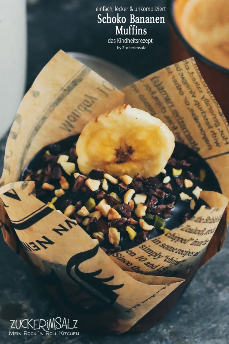 Schoko, Bananen, Muffins, einfach, lecker, unkompliziert, Kindheitsrezept, Kinder, Herbst, Winter, Cupcakes