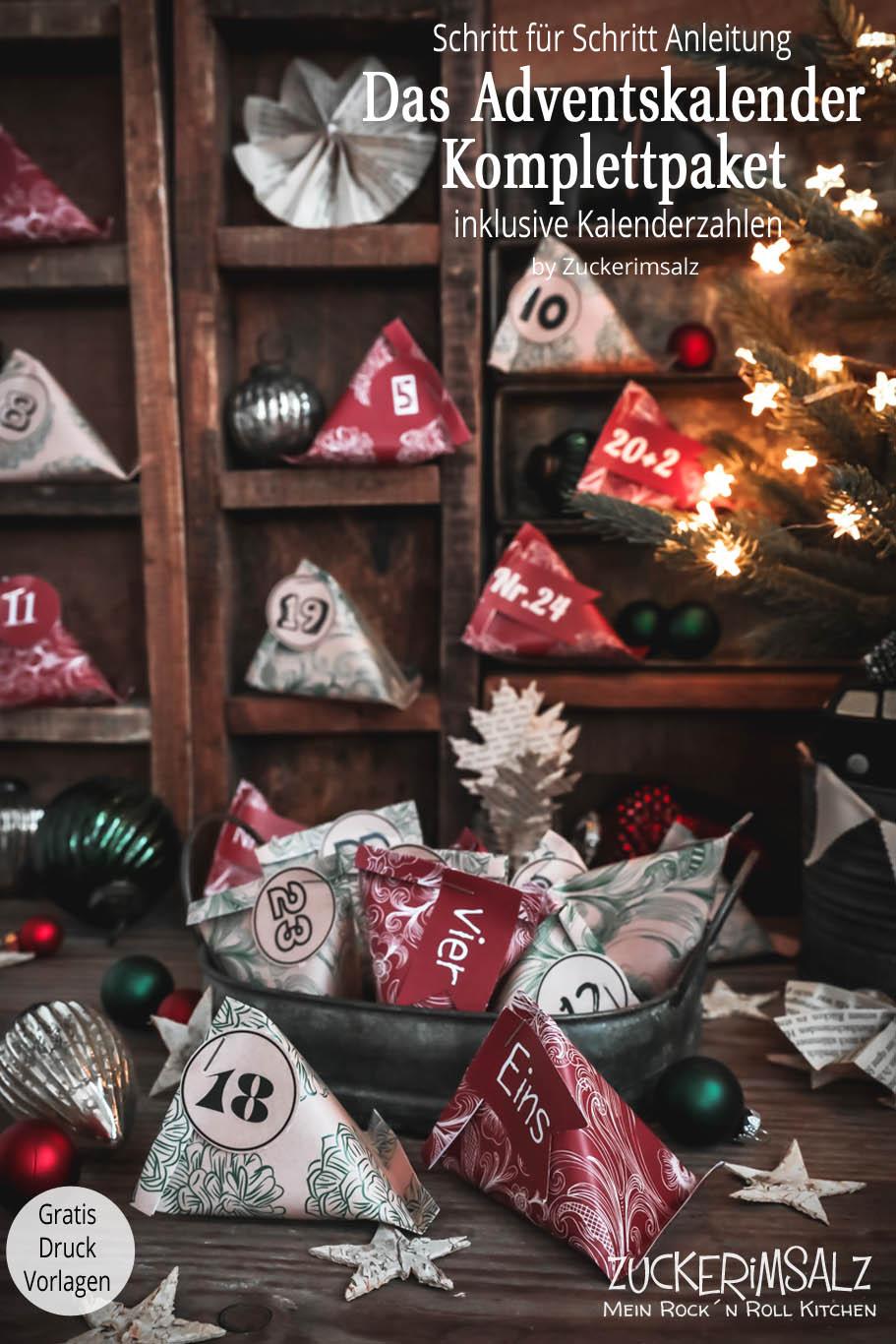 Das Adventskalender Komplettpaket DIY – inklusive Vorlagen zum Ausdrucken