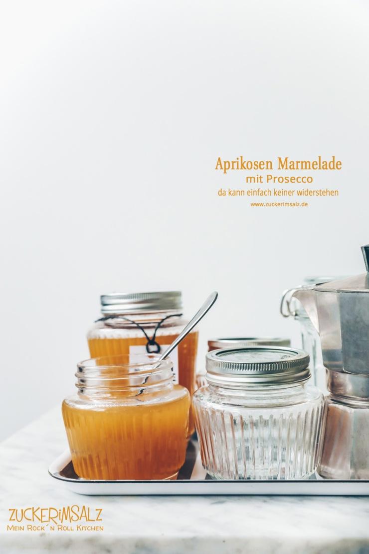 Aprikosen, Marmelade, Prosecco, einkochen, einmachen, Ostern, Geschenk aus der Küche,