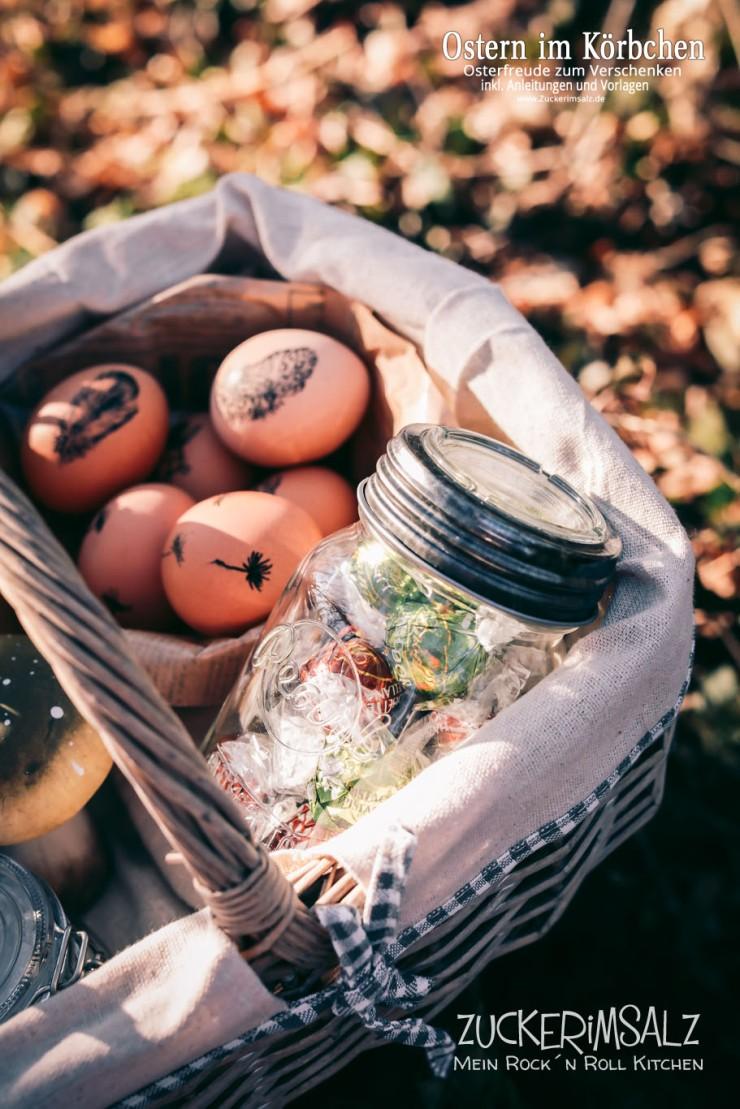 Eier, stempeln, Ostern, Körbchen, Korb, Geschenke, zum Verschenken, Anleitungen, Freebies, Downloads