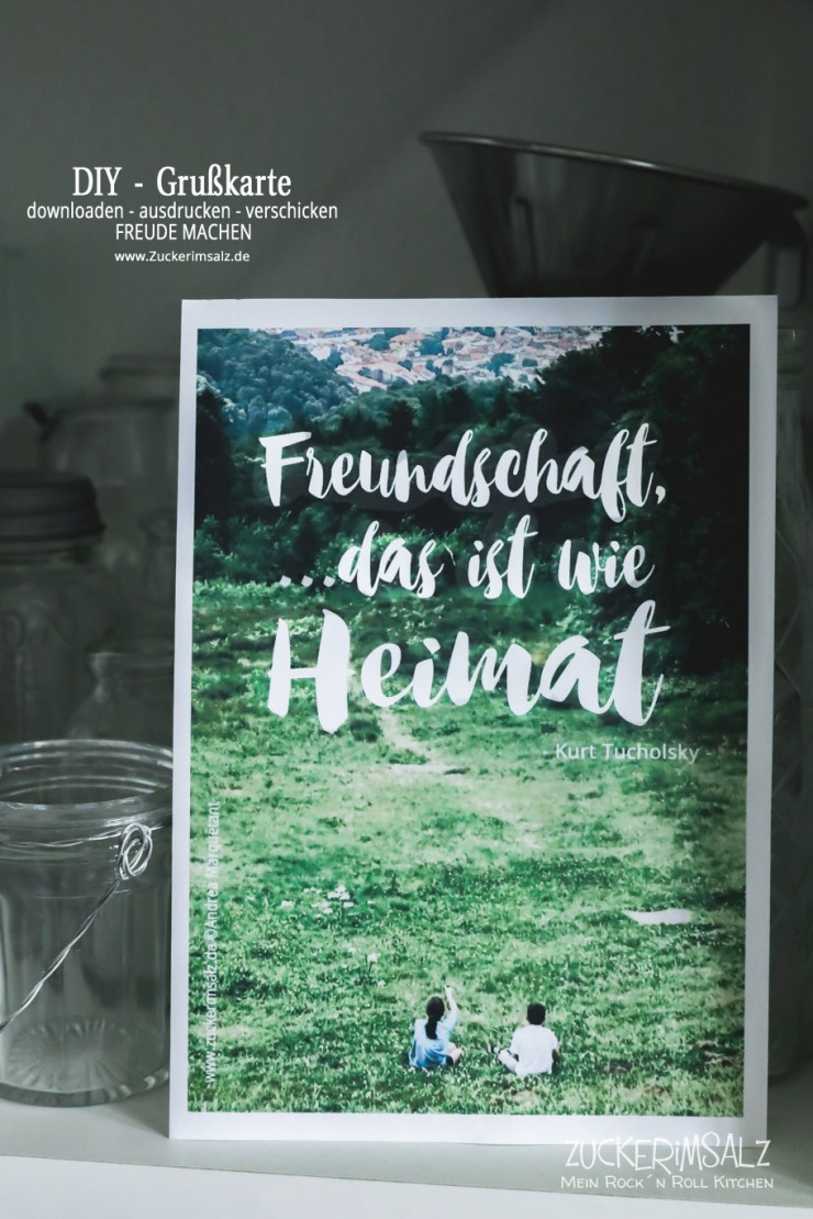 DIY, Freundschaft, Grußkarte, Karte, Freebie, kostenlos, download, Heimat