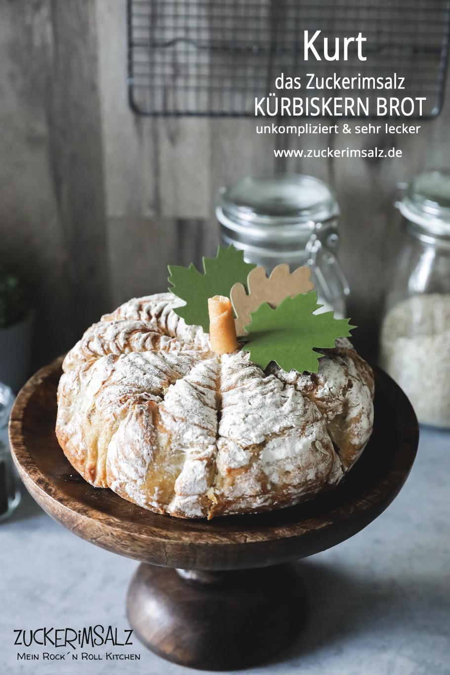 Kurt – Das Zuckerimsalz Kürbiskern Brot – unkompliziert und sehr lecker und das nicht nur im Herbst
